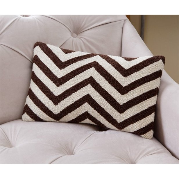 pillow case white black lines asymmetric
