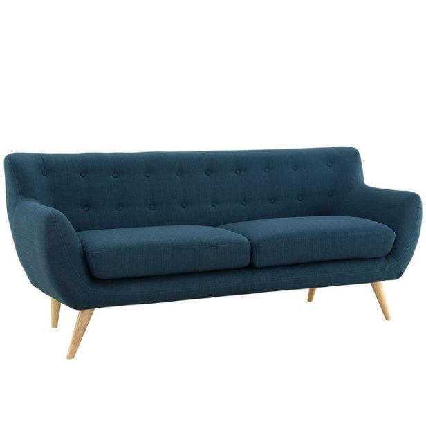 fabric sofa in azure comfortable
