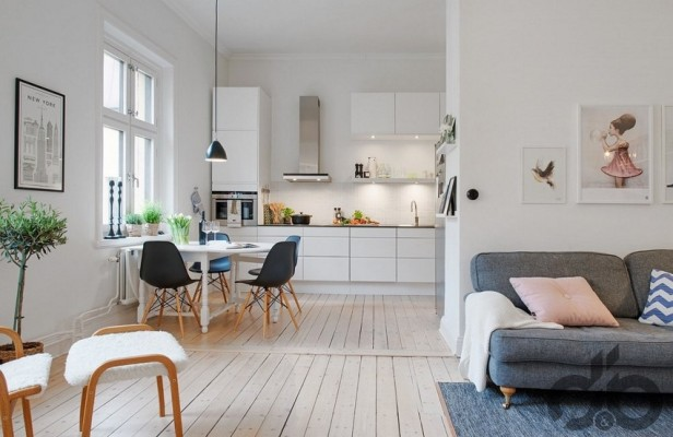 scandinavian dining room simple functional