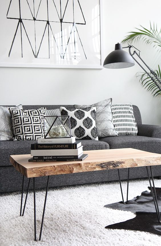 scandinavian style design living room natural