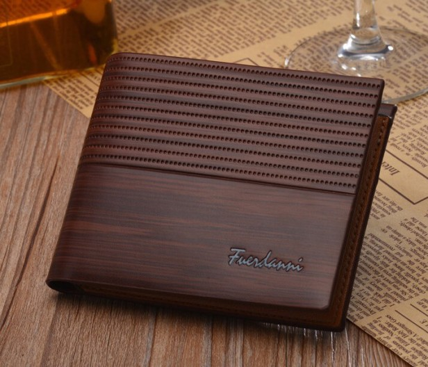 leather slim wallet card holder